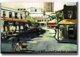 Gateway To Chinatown - 1 | Hawaii Art by Hawaiian Artist Mark N. Brown | Pl