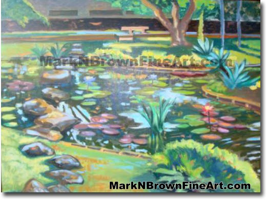 Krauss Hall | Hawaii Art by Hawaiian Artist Mark N. Brown | Plein Air Paint