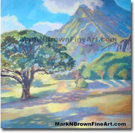 Na Pali O' Ko'olau   Hawaii Art by Hawaiian Artist Mark N. Brown   Plein Ai
