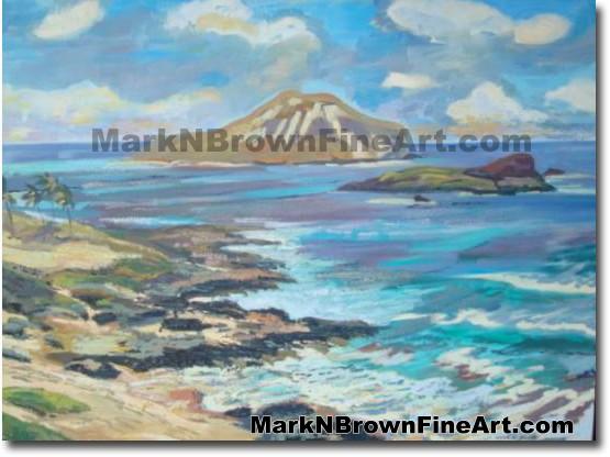 Rabbit Island - 1 | Hawaii Art by Hawaiian Artist Mark N. Brown | Plein Air