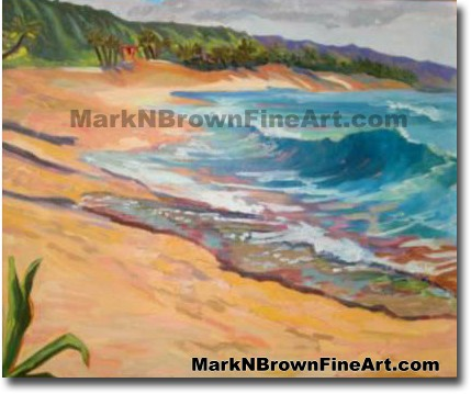 Sunset Beach | Hawaii Art by Hawaiian Artist Mark N. Brown | Plein Air Pain
