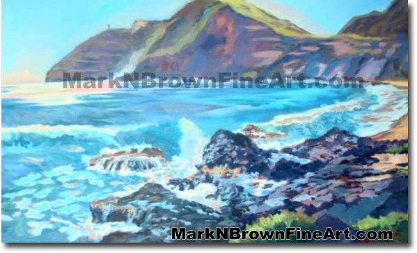 Surf Break At Makapu'u | Hawaii Art by Hawaiian Artist Mark N. Brown | Plei