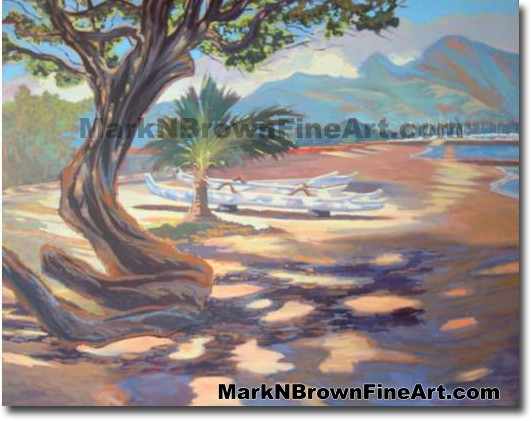 North Shore Kiawe | Hawaii Art by Hawaiian Artist Mark N. Brown | Plein Air