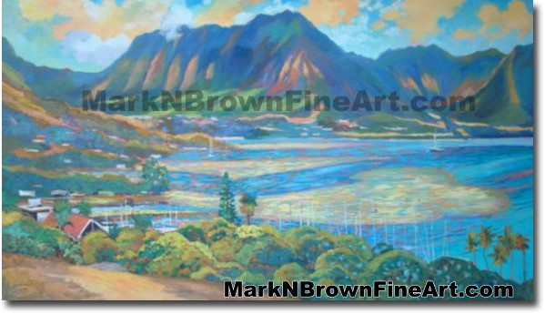 Kaneohe Bay - 1 | Hawaii Art by Hawaiian Artist Mark N. Brown | Plein Air P
