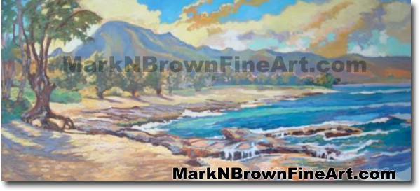 Papa' Iloa Beach -Fnorth Shore | Hawaii Art by Hawaiian Artist Mark N. Brow