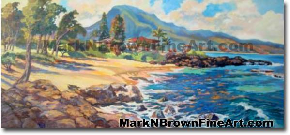 Three Tables -Fnorth Shore | Hawaii Art by Hawaiian Artist Mark N. Brown |