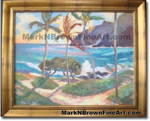Makapu'u Break | Hawaii Art by Hawaiian Artist Mark N. Brown | Plein Air Pa