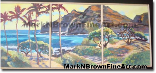 Makapu'u Tryptich | Hawaii Art by Hawaiian Artist Mark N. Brown | Plein Air