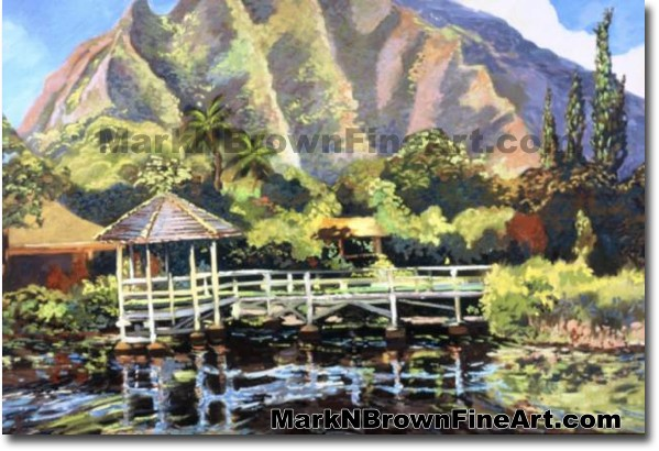 Haiku Gardens | Hawaii Art by Hawaiian Artist Mark N. Brown | Plein Air Pai