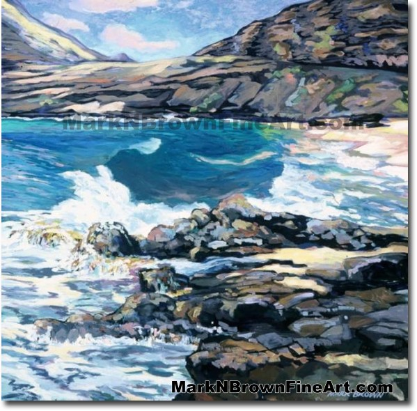 Makapu'u Surge | Hawaii Art by Hawaiian Artist Mark N. Brown | Plein Air Pa
