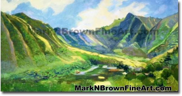 Manoa Valley | Hawaii Art by Hawaiian Artist Mark N. Brown | Plein Air Pain