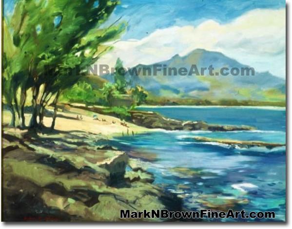 View From Pupukea/ North Shore | Hawaii Art by Hawaiian Artist Mark N. Brow