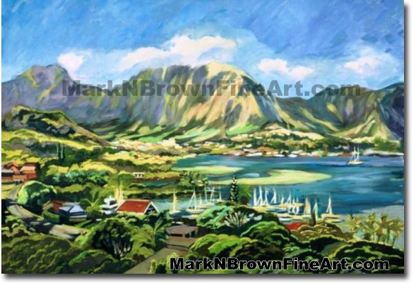 Kaneohe Bay - 2 | Hawaii Art by Hawaiian Artist Mark N. Brown | Plein Air P