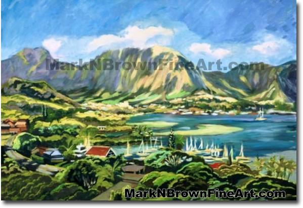 Kaneohe Bay - 2 | Hawaii Art by Hawaiian Artist Mark N. Brown | Plein Air P
