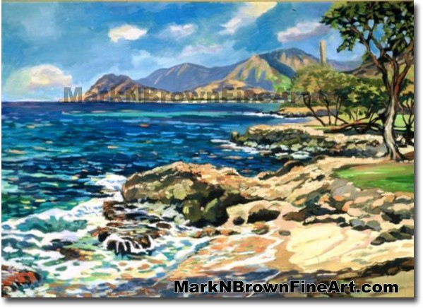 Ko'olina | Hawaii Art by Hawaiian Artist Mark N. Brown | Plein Air Painter