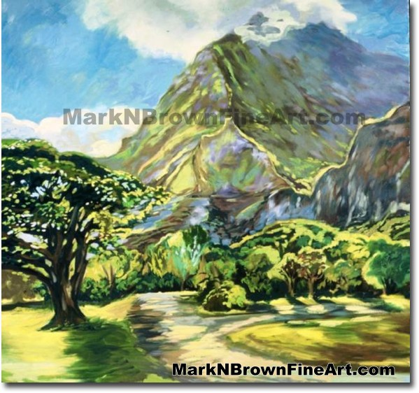 Ho'omaluhia Botanical Park | Hawaii Art by Hawaiian Artist Mark N. Brown |
