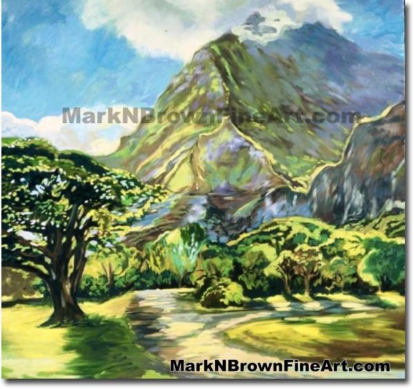 Ho'omaluhia Botanical Park | Hawaii Art by Hawaiian Artist Mark N. Brown |