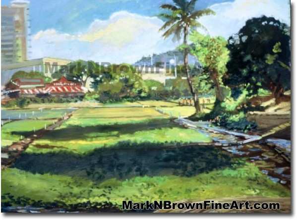 Sumida Watercress Farm | Hawaii Art by Hawaiian Artist Mark N. Brown | Plei