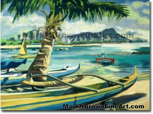 Kaiser Bowls - 2 | Hawaii Art by Hawaiian Artist Mark N. Brown | Plein Air