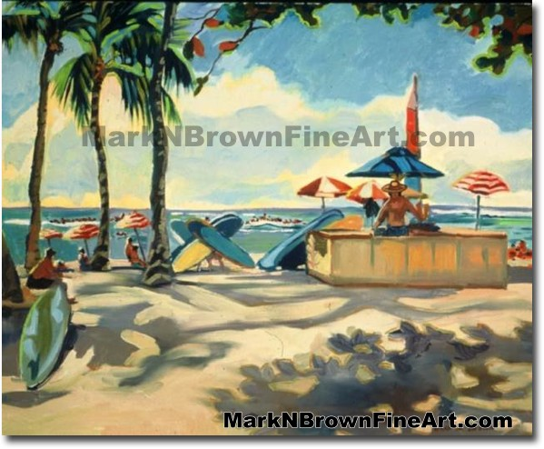 Waikiki Beach Series #2 | Hawaii Art by Hawaiian Artist Mark N. Brown | Ple