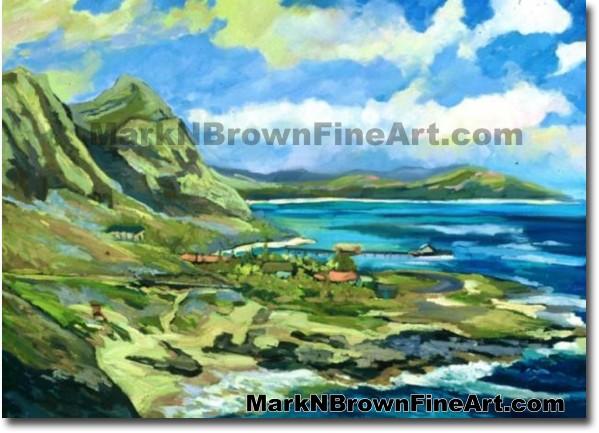 Makapu'u Lookout Sunset | Hawaii Art by Hawaiian Artist Mark N. Brown | Ple