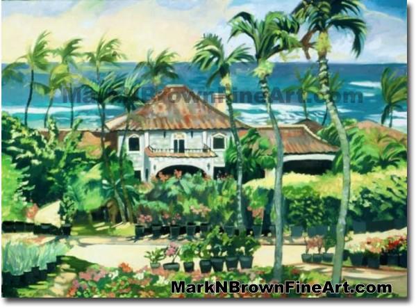 Diamond Head | Hawaii Art by Hawaiian Artist Mark N. Brown | Plein Air Pain