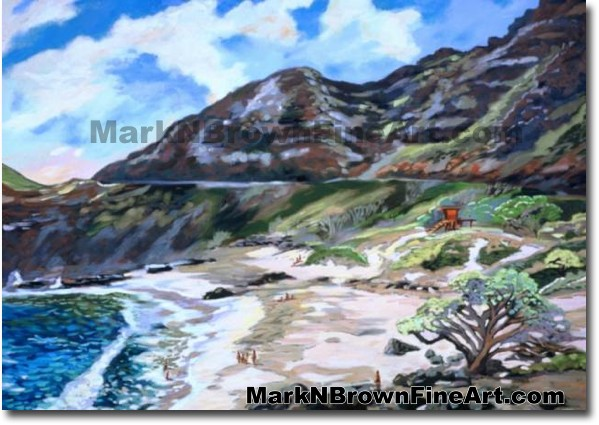 Makapu'u Pathway | Hawaii Art by Hawaiian Artist Mark N. Brown | Plein Air