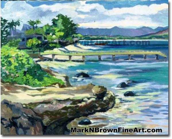 Waimanalo View | Hawaii Art by Hawaiian Artist Mark N. Brown | Plein Air Pa