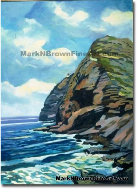 Verticle Cliffs Of Makapu'u | Hawaii Art by Hawaiian Artist Mark N. Brown |