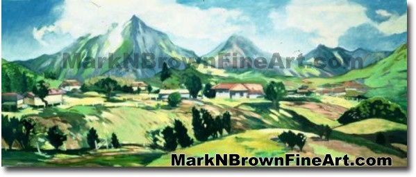 View Of Ko'olaus Series #2 | Hawaii Art by Hawaiian Artist Mark N. Brown |