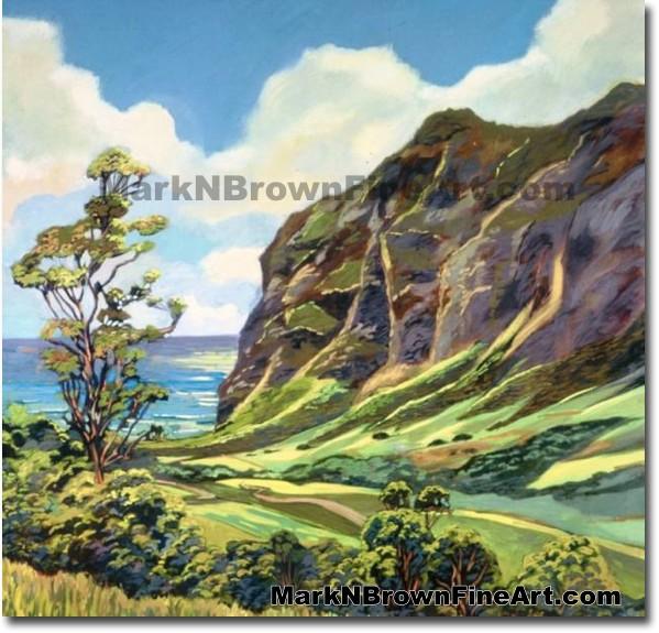 Kuloa Valley | Hawaii Art by Hawaiian Artist Mark N. Brown | Plein Air Pain