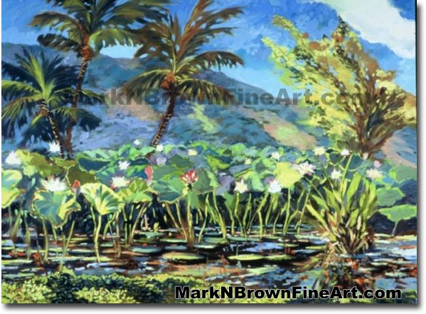 Haleiwa Lotus Series #2 | Hawaii Art by Hawaiian Artist Mark N. Brown | Ple