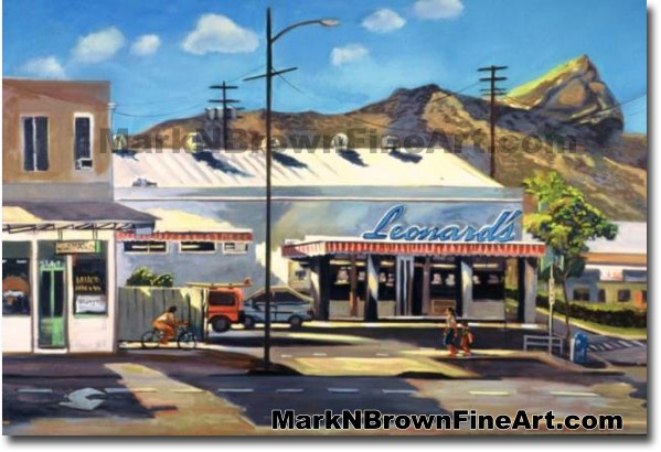 Leonard's Bakery | Hawaii Art by Hawaiian Artist Mark N. Brown | Plein Air
