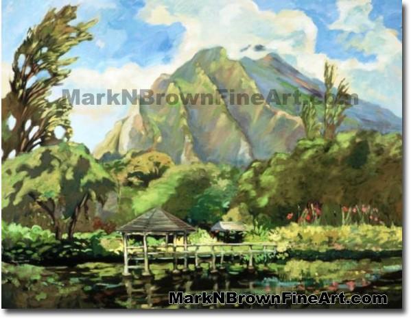 Haiku Garden's Series #2   Hawaii Art by Hawaiian Artist Mark N. Brown   Pl