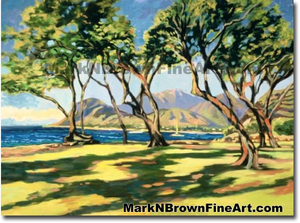 Ko'olina From The Tracks | Hawaii Art by Hawaiian Artist Mark N. Brown | Pl