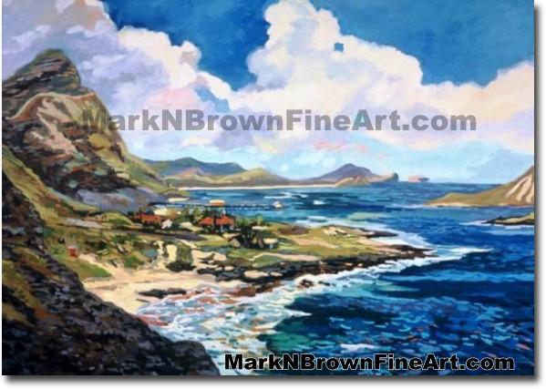 Makapu'u Lookout Mosiac | Hawaii Art by Hawaiian Artist Mark N. Brown | Ple