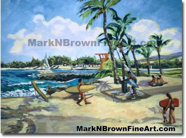 Ali'i Beach Park/North Shore | Hawaii Art by Hawaiian Artist Mark N. Brown