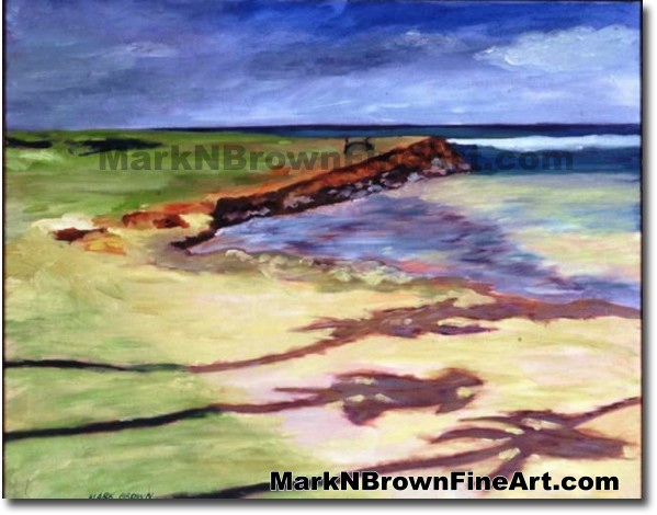Dawn Patrol | Hawaii Art by Hawaiian Artist Mark N. Brown | Plein Air Paint
