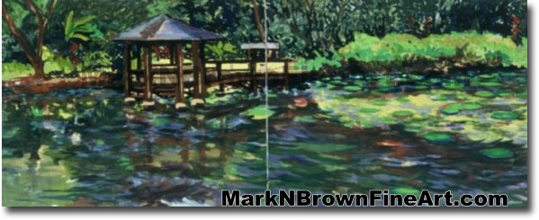 Haiku Gardens Dyptich | Hawaii Art by Hawaiian Artist Mark N. Brown | Plein