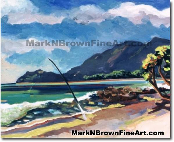 Bellows -1 | Hawaii Art by Hawaiian Artist Mark N. Brown | Plein Air Painte