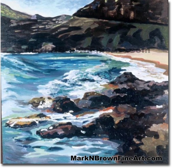 Makapu'u Bowl | Hawaii Art by Hawaiian Artist Mark N. Brown | Plein Air Pai