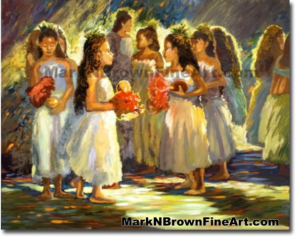 Ready For The Dance | Hawaii Art by Hawaiian Artist Mark N. Brown | Plein A
