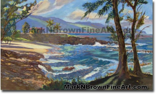 Three Tables At Pupukea / North Shore | Hawaii Art by Hawaiian Artist Mark
