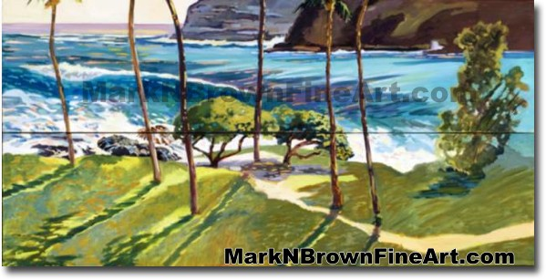 Makapu'u Shadows | Hawaii Art by Hawaiian Artist Mark N. Brown | Plein Air