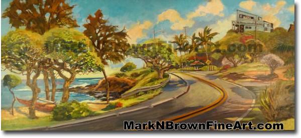Lanikai Hill Of Kailua   Hawaii Art by Hawaiian Artist Mark N. Brown   Plei
