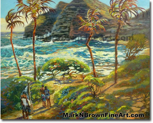 Stormy Day At Makapu'u Beach | Hawaii Art by Hawaiian Artist Mark N. Brown