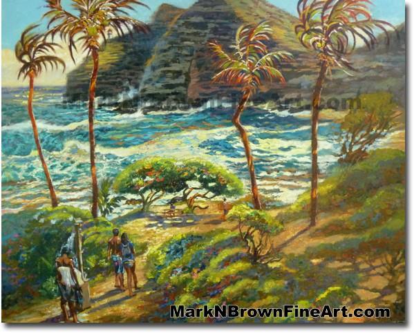 Stormy Day At Makapu'u Beach | Hawaii Art by Hawaiian Artist Mark N. Brown