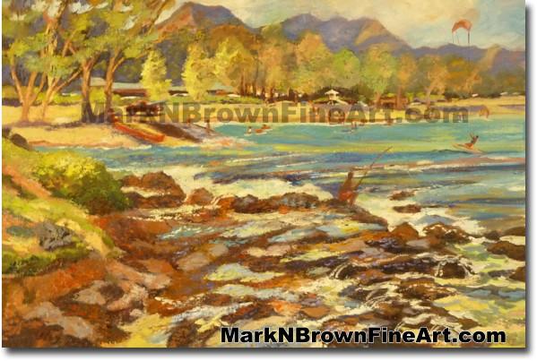 Kailua Tidepools | Hawaii Art by Hawaiian Artist Mark N. Brown | Plein Air