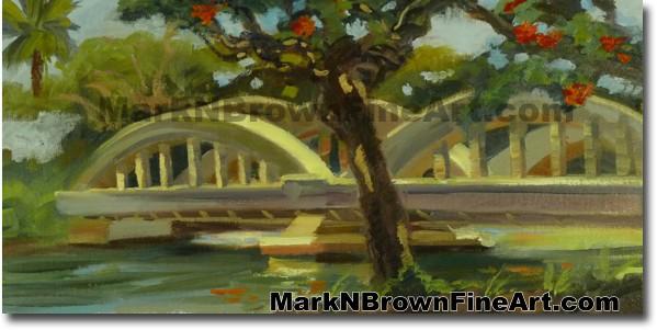 Haleiwa Bridge Reflections | Hawaii Art by Hawaiian Artist Mark N. Brown |