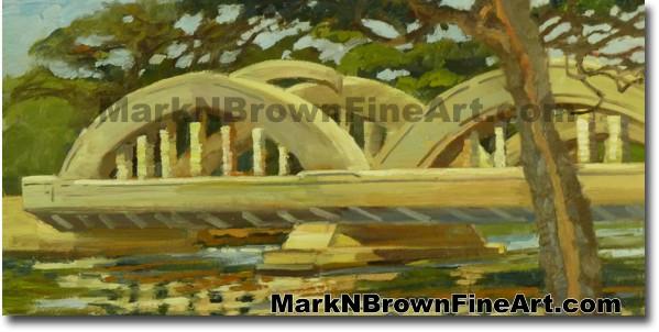 Haleiwa Bridge Afternoon | Hawaii Art by Hawaiian Artist Mark N. Brown | Pl